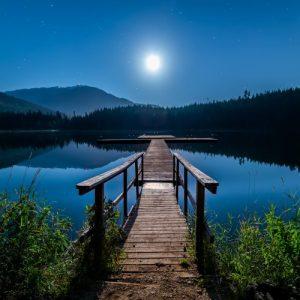 luna y agua